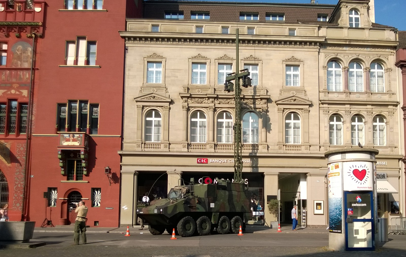 Military Vehicle on Marktplatz