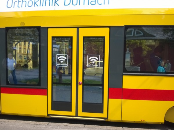 BLT Tram with free Wi-Fi inside