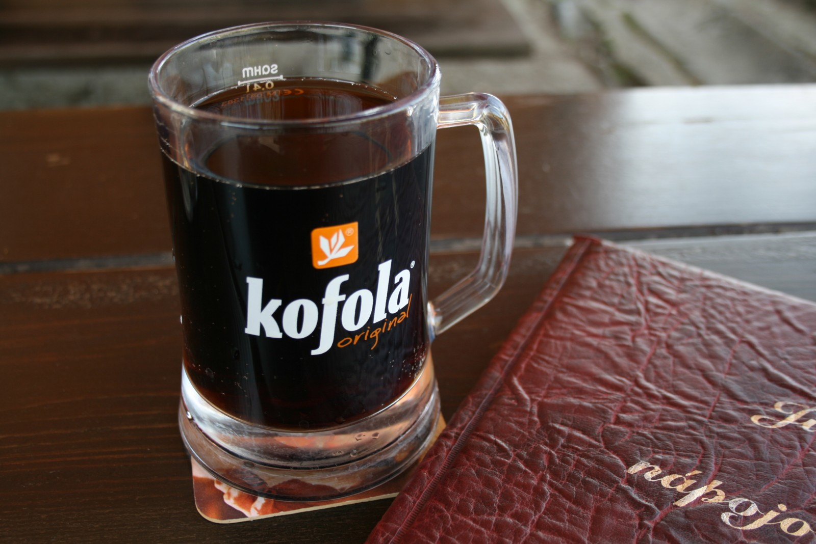 Glass of Kofola